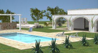 Vendita villa in costruzione con piscina – Contrada Rascina, Ostuni (Brindisi)